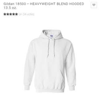 Gildan Brand White Hoodie