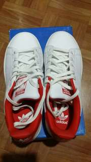 Authentic Pre-loved Adidas Stan Smith Red Tab