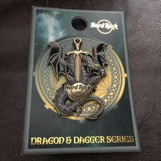 Hard Rock Cafe Dubai Dragon & Dagger Series Pin