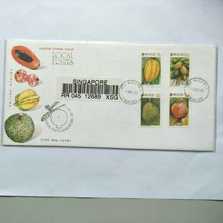 Registered FDC - 1993 Local Fruits