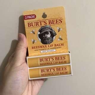 Burt's bees 潤唇膏2枝裝