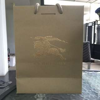 Original BURBERRY Paper Bag Small