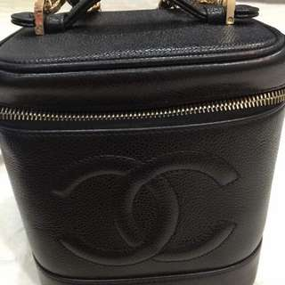 Chanel Vanity Case Bag in Black Caviar with GHW