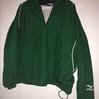 Vintage Green quarter zip windbreaker