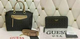 guess bag and wallet