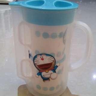 "Jug and Cup plastic ""Doraemon"""