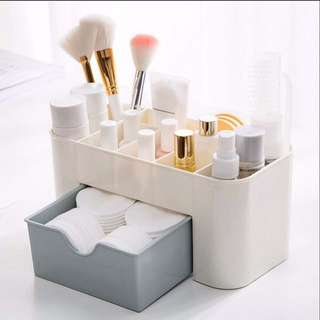 Plastic Cosmetic Storage Box with Drawer