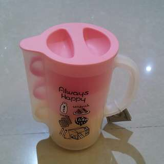 """Jug and plastic cup """"Pink"""""""