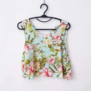 FOREVER21 TROPICAL FLORAL CROP