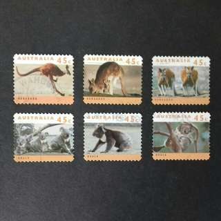 Australia Kangaroos and Koalas Complete Set - Used