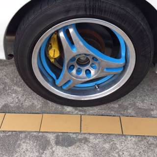 "16"" rim 2picec welding rim from Japan! 🇯🇵 Pcd100&114.3 (4hold)"