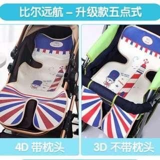 🚚 嬰兒推車涼蓆草蓆汽車安全座椅涼蓆 舒適透氣