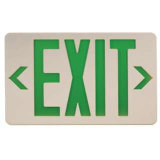 Exit Sign Green Text Double or Single Sided Type