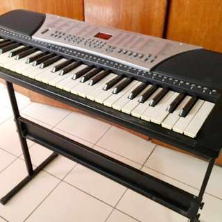 NEGOTIABLE! 54 Key Digital Electronic Organ with stand, microphone,  and beginner's guide still in good condition (with box)