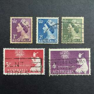 Australia Old Stamps 2 Complete Sets - Used