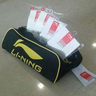Li Ning Shoe Bag and Socks