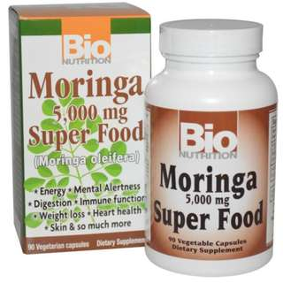 Bio Nutrition, Moringa Super Food, 5,000 mg, 90 Veggie Caps