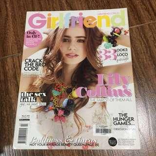 LILY COLLINS Girlfriend Magazine