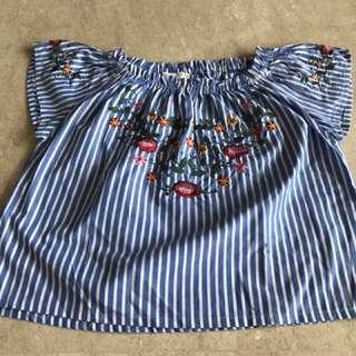 Zara sabrina top for girls