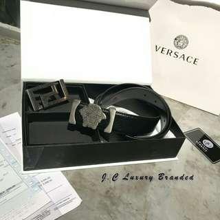 原版Versace双扣腰带 01