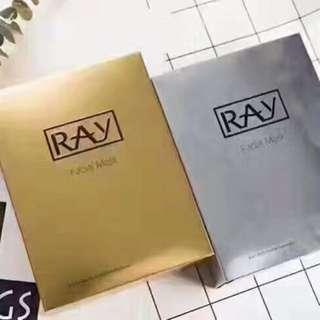 泰国RAY蠶絲補水面膜 一盒10片