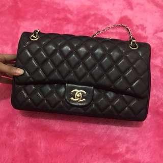 Chanel double flap caviar. Jumbo size! Like new. Mirip Ori