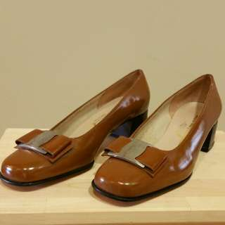 Ferragamo patent leather shoes