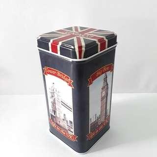 UK Tall Metal Tin Container