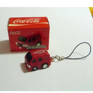 COCA COLA Mobile Phone Lanyard Mini Cars RED VAN box Moving Van 2009 Singapore