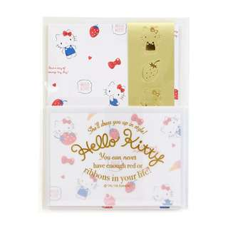 Japan Sanrio Hello Kitty Mini Letter Set (Happiness Girl)