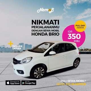 Promo sewa mobil Honda Brio Satya di Jakarta. Harga murah dan berkualitas. Kunjungi aplikasi Nemob
