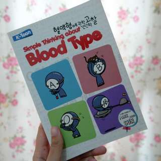 Simple Thinking about Blood Type by Park Dong Sun