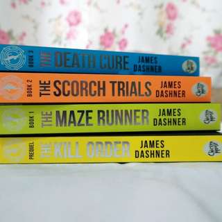 The Maze Runner Series English Ver. Book Set by James Dashner