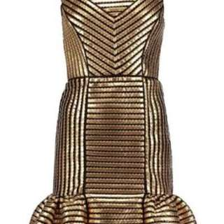 Maje - coated twill and mesh mini dress - BNWT