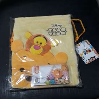 Tsum Tsum Ezlink Charm with Pouch Set
