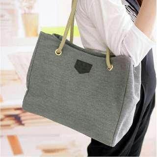 Korean Hemp Canvas Simple Shoulder Bag