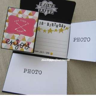 Birthday Long Wallet Scrapbook Card