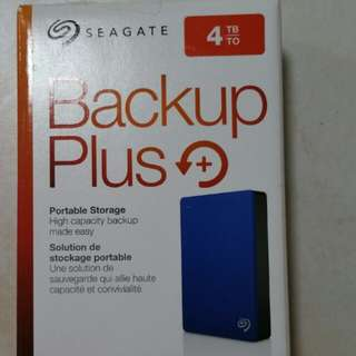 Seagate Backup Plus 4TB external hard drive HDD disk