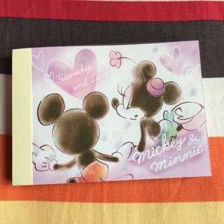 Mickey&minnie memo紙