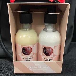The body shop Shea handwash and hand lotion