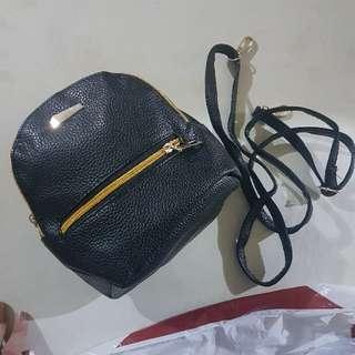 black cute backpack