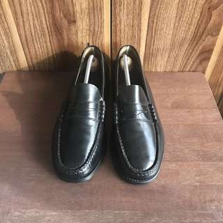 Black Florsheim Penny Loafers Leather Shoes