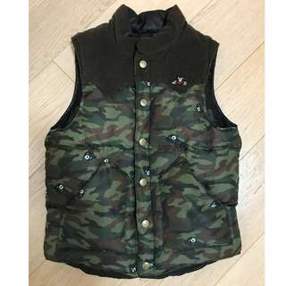 MIKI HOUSE-Down Reversible Vest