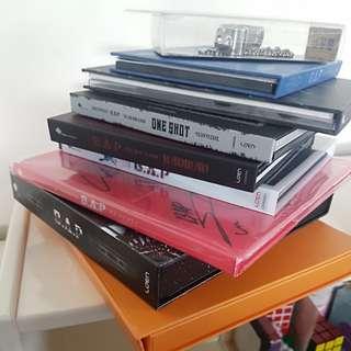 8 B.A.P albums including one signed album