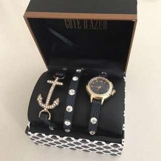 RTP:$85 😱 Cote D'Azur Three Strap Watch