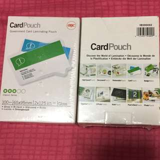 Card pouch (2 packs)