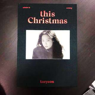Girls Generation Taeyeon This Christmas Album
