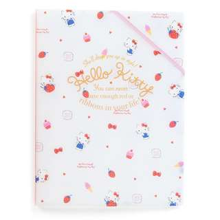 Japan Sanrio Hello Kitty A4 Clear File 【Holder In】 (Happiness Girl)