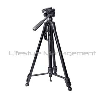 DSLR Camera Professional Aluminium Ruddegized Tripod 3-Axis with Quick Release Plate + Carrying Bag/Case