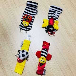 Baby wristband & rattle socks